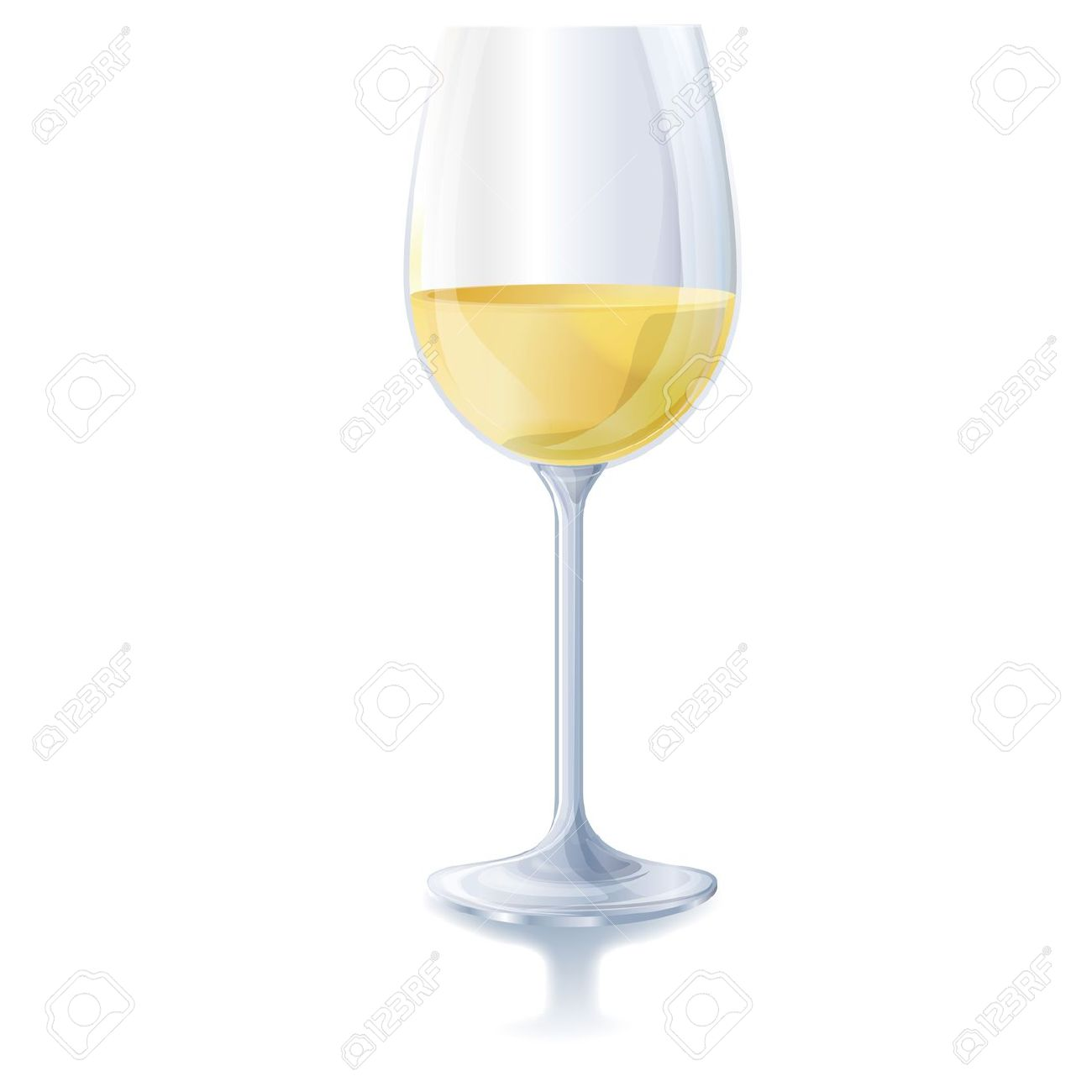 hight resolution of white wine glass clip art