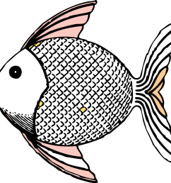 free black and white fish clipart  [ 1331 x 1278 Pixel ]