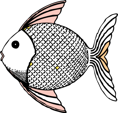 small resolution of free black and white fish clipart