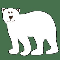 clipart bear polar outline clip clipground