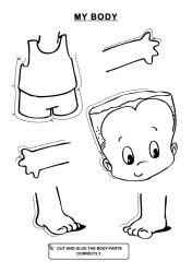 body cartoon clipart hands whole parts puzzle toddler preschool