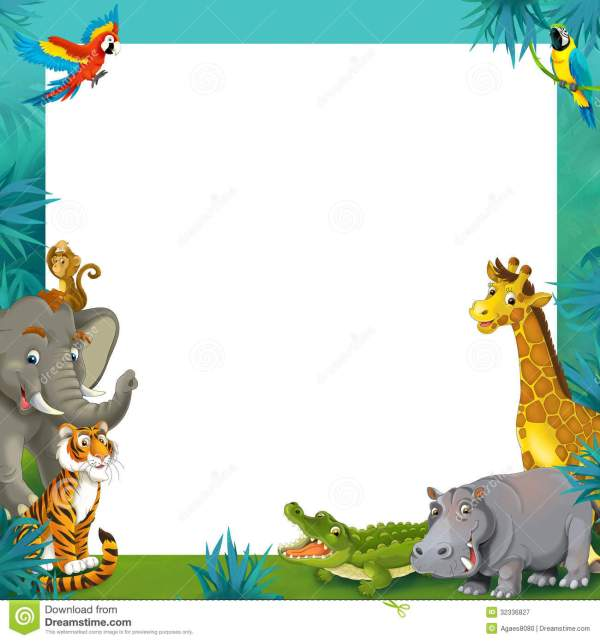Wild Animal Clipart Border - Clipground