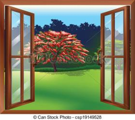 window clipart open tree illustration clip vector drawing views drawings graphics clipground help cliparts graphic