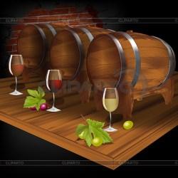 cellar clipart vector wine weinfass barrel weinkeller vektor clipground barril cliparto winecellar yevgen