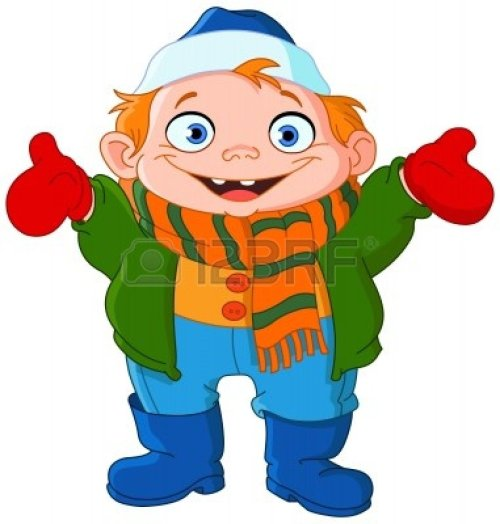 small resolution of kids winter clothes clipart