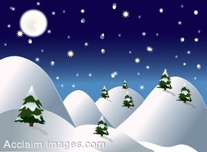 Free Animated Snow Falling Wallpaper Winter Evening Clipart Clipground