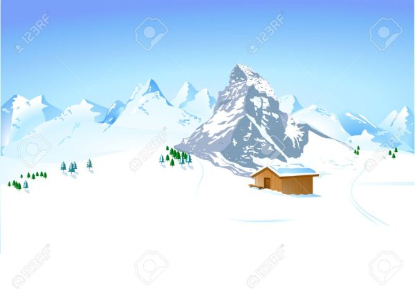 Winter mountain clipart Clipground