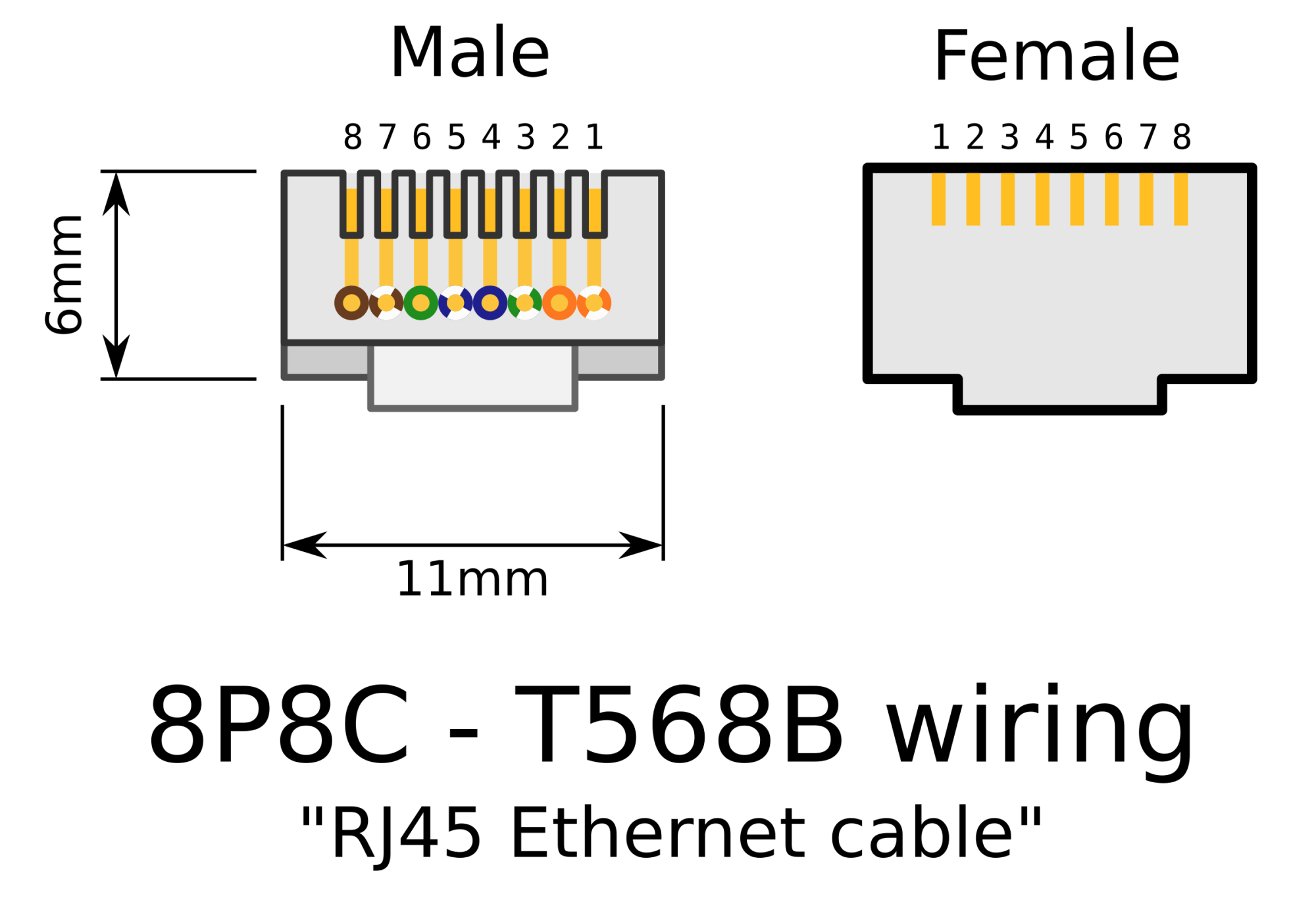 hight resolution of rj45 connector wiring
