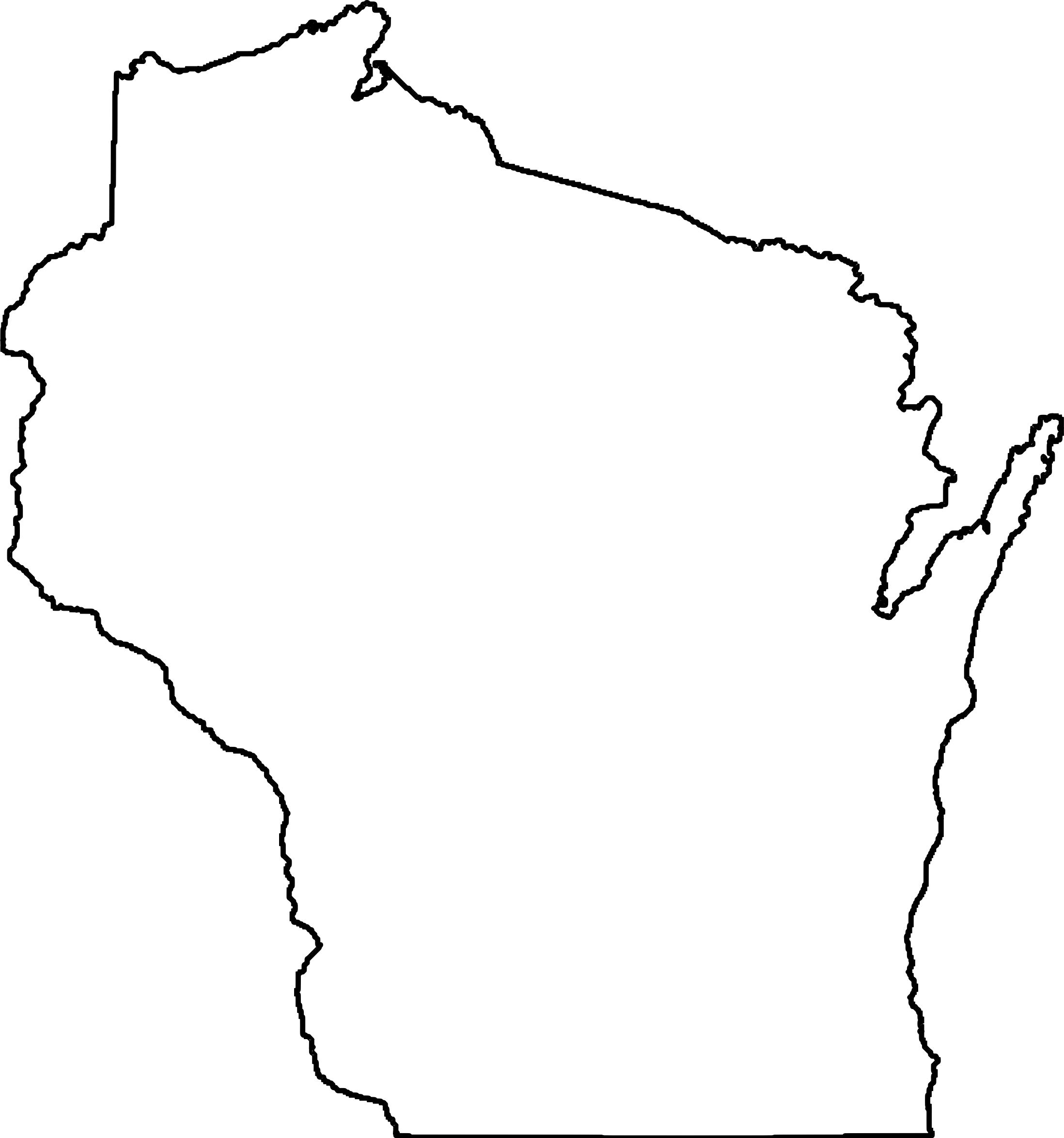 Wisconsin Map Outline Clipart
