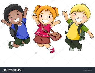 clipart child joy happily jumping students clipground vecotr
