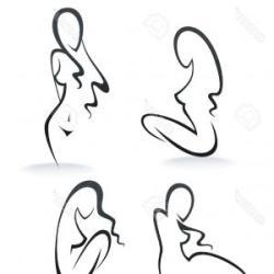 outline body woman clipart clip clipground parts excellent