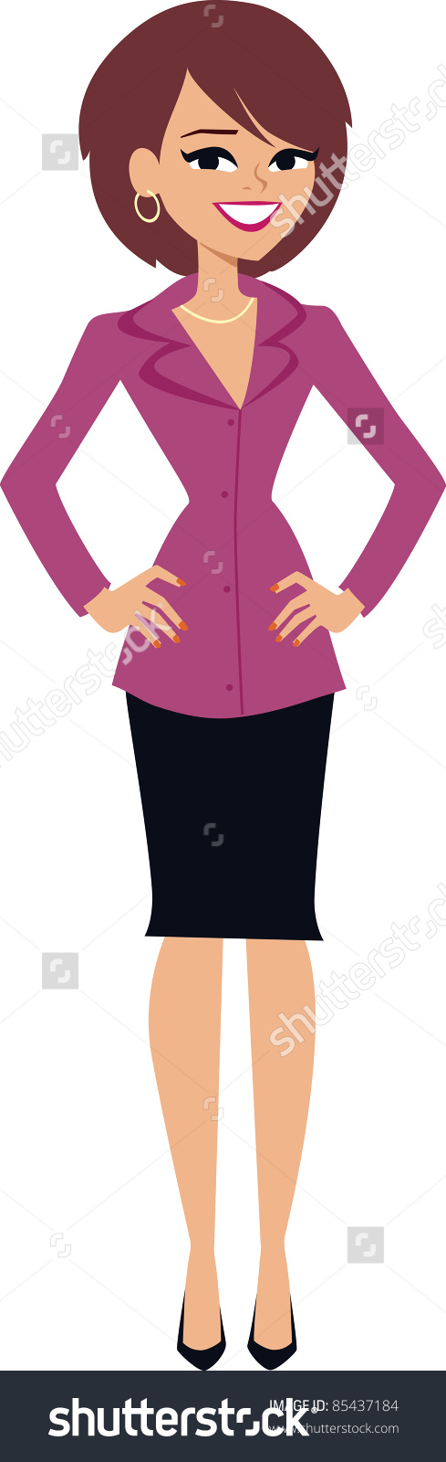 clip art lady standing - clipground