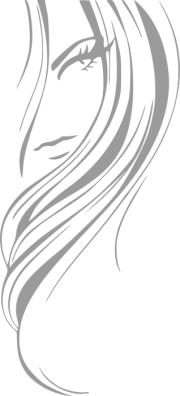 woman hair clipart black and white