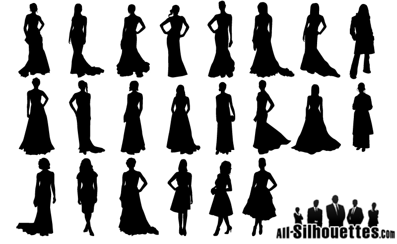 woman silhouette in gown clipart 20 free Cliparts