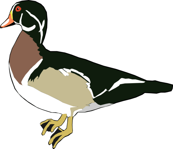 Wooden Duck Clipart - Clipground