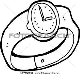 clipart wrist cartoon clip vector drawings illustration drawing illustrations watches wristwatch clipground watching icon canstockphoto fotosearch posters cliparts lineartestpilot