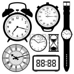 vector clock clipart wrist collection hand painted clip material tower watches illustration face illustrations royalty adrian clocks wristwatch clipground wall