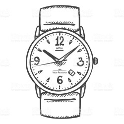 wrist clipart sketch vector mens classic clipground royalty