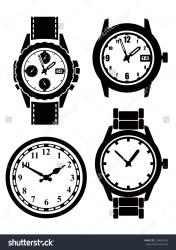 clock clipart wrist vector icons clipground illustration vectors shutterstock
