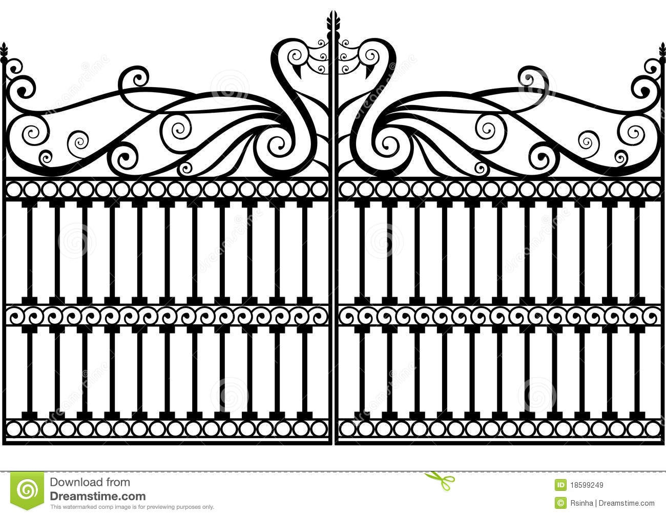 Wrought Iron Gate Clipart