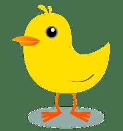 yellow bird clipart [ 1111 x 1101 Pixel ]