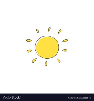 sun yellow drawing simple outline vector hand clipart stylized na ve clipground