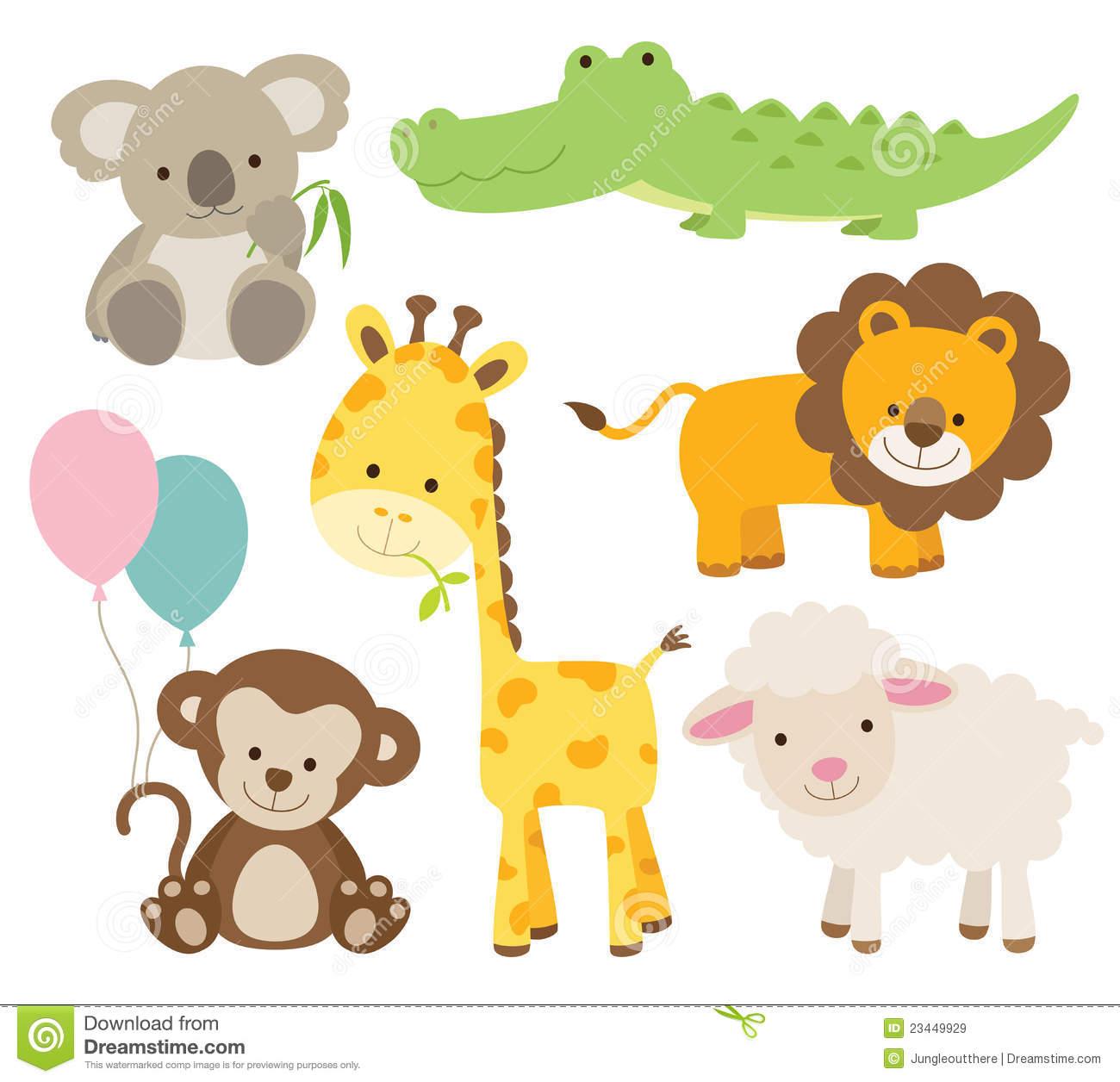 Baby Cartoon Animals Clipart