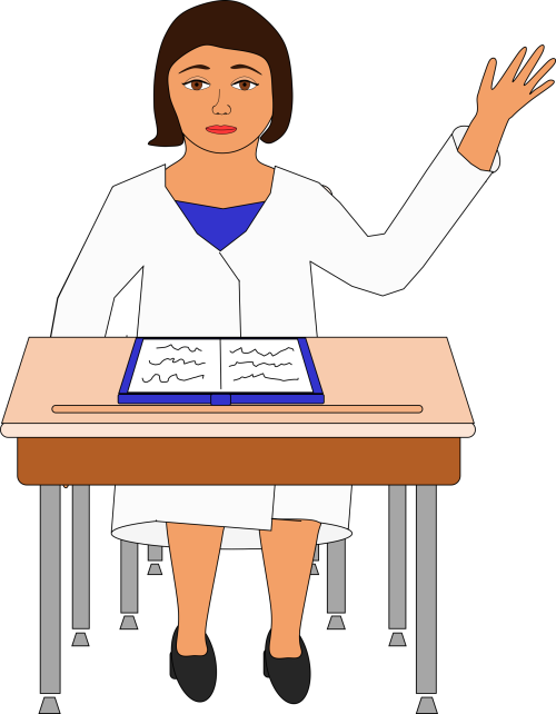 small resolution of young girl raising hand in class clipart school