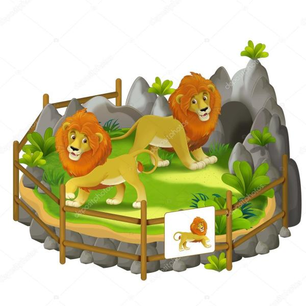 Zoo Lion Drinking Fountain Clipart - Clipground