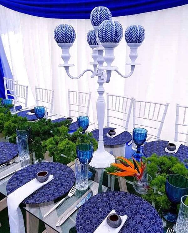 Blue Centerpiece for Shweshwe Decor | Clipkulture ...