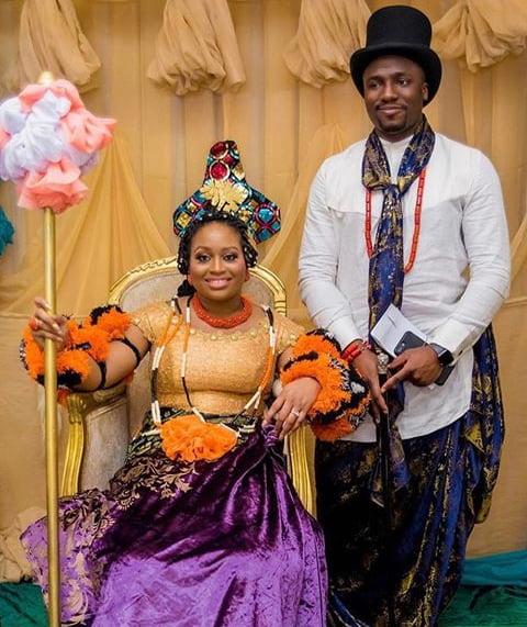 Efik Bride & Groom In Traditional Wedding Attire