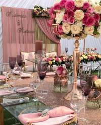 Modern Traditional Wedding Decor with Dusty Pink Theme ...