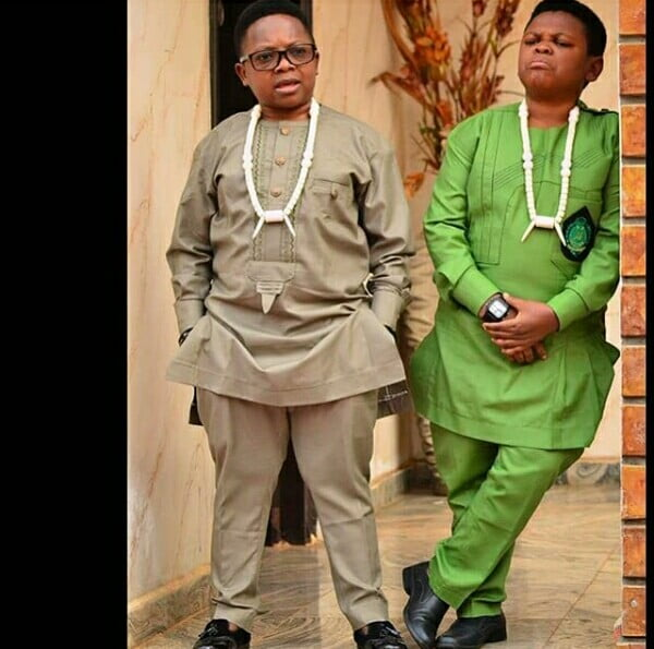 Chinedu Ikedieze and Osita Iheme In Kaftan Traditional Wear and ...