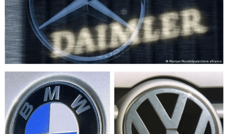 Daimler (top), BMW and VW are among the German car manufacturers cited in the report