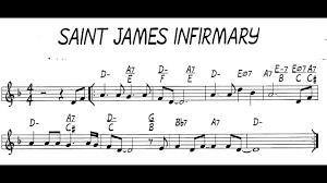 sheet music St James Infirmary