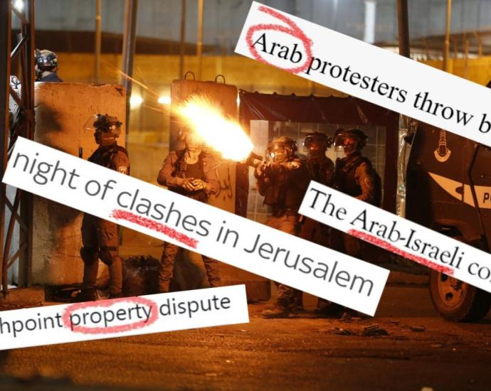 The language used by media to report on events in Israel and Palestine has come under scrutiny (AFP/screengrabs)