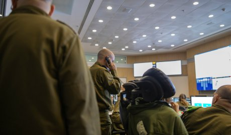 The Israeli Army's underground command bunker collects intelligence information from various agencies and uses it to carry out operations.Credit...Dan Balilty for The New York Times