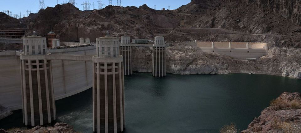 Low water levels due to drought are seen in the Hoover Dam reservoir of Lake Mead near Las Vegas, Nevada, U.S. June 9, 2021. Picture taken June 9, 2021. REUTERS/Bridget Bennett