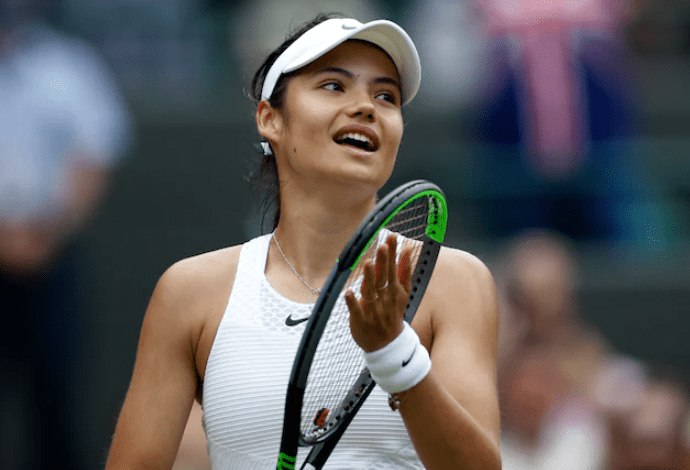 Emma Raducanu became the youngest British woman to reach the fourth round of Wimbledon in the Open Era (Reuters Photo)