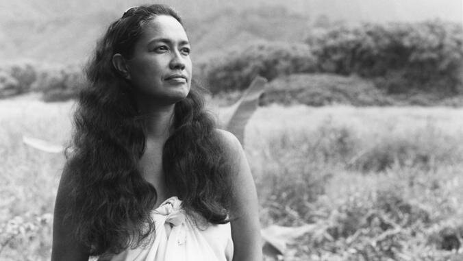 """Haunani-Kay Trask in an undated photo. As a professor, poet and activist, she pushed for the recognition of Hawaii's Indigenous people. """"I am not soft, I am not sweet, and I do not want any more tourists in Hawaii,"""" she said.Credit...Kapulani Landgraf"""