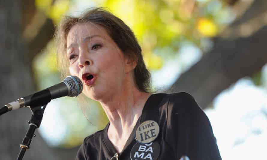 Nanci Griffith in Nashville in 2011. Her songs remained distinctly southern, and were reflective of her small-town upbringing. Photograph: Rick Diamond/Getty Images