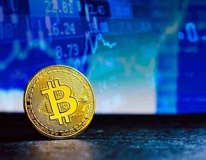 In 2020 the bitcoin network processed 112.5m transactions. Photograph: Rafael Henrique/SOPA Images/Rex/Shutterstock