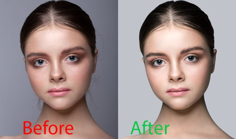 Headshot retouching service