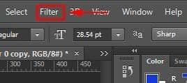 Filter Menu Photoshop