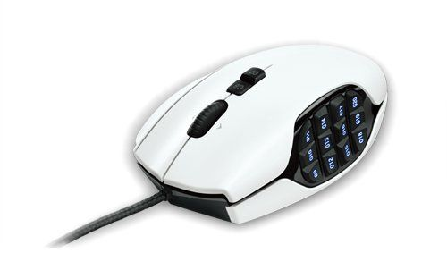 G600 blanco, MMO gaming mouse, Logitech