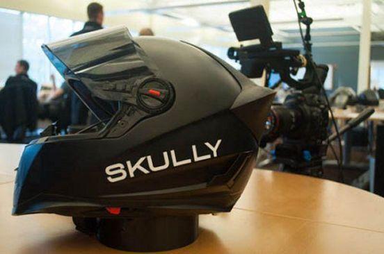 Skully P-1 casco con HUD android clipset