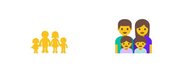 android emoji familia