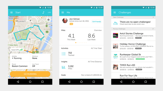 Runkeeper 6.0 para Android.