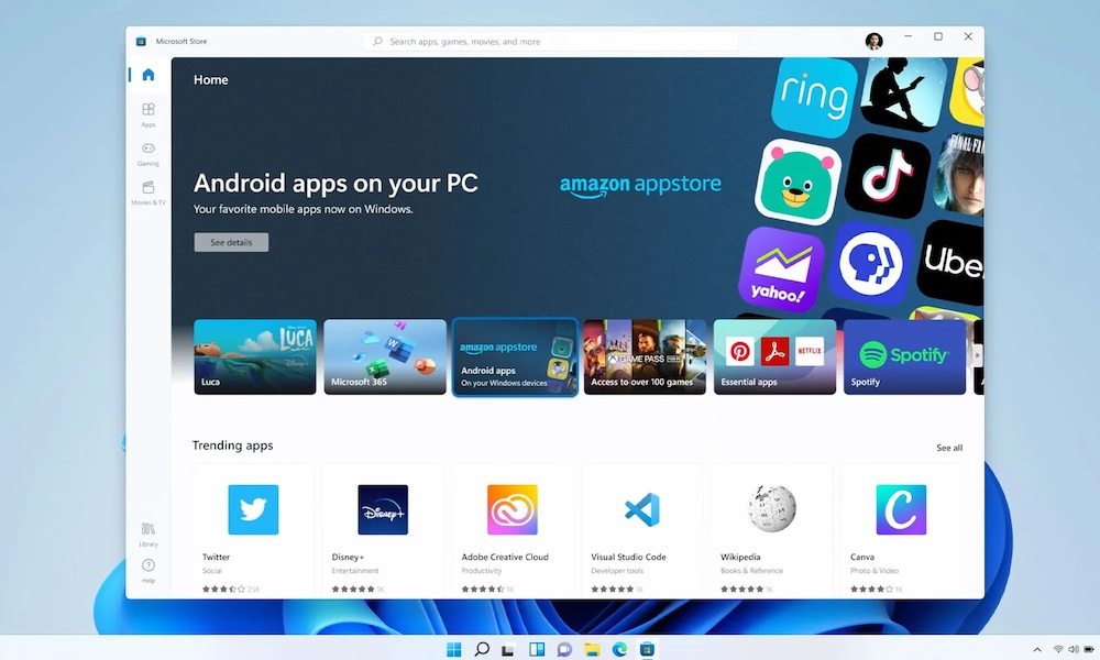 windows 11 android
