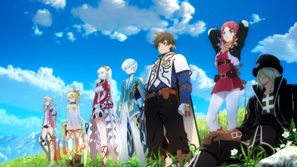 A colorful cast of characters lined up in Tales of Zestiria